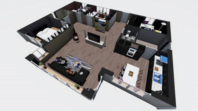 3D-Visualisering - Planritning