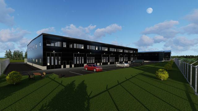 3D-Visualisering - Industrihall