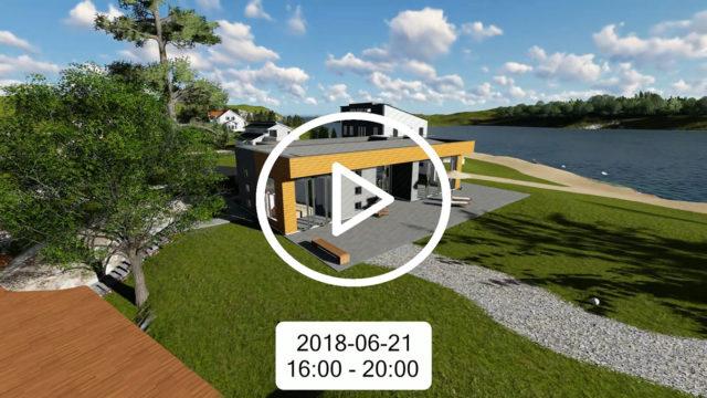 Solstudie inför nybygge av villa